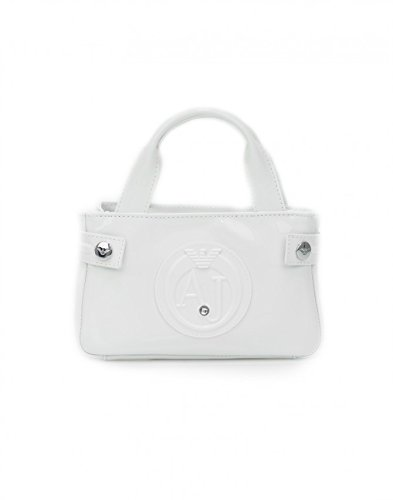 Armani Jeans Mini Bag, white coloured min bag – SIZE (cm) : W.20 H.12 D.7