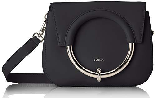 Furla Furla Margherita Mini Black Leather Shoulder Bag With Ring. Black