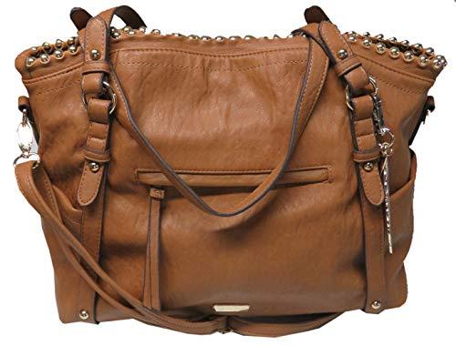 Jessica Simpson Women's Large Camile Handbag, Cognac