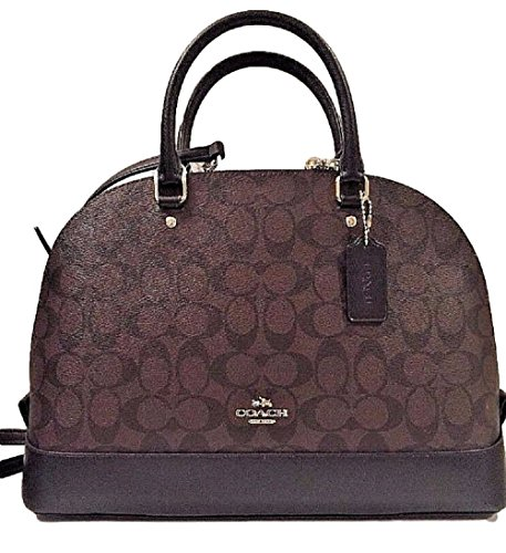 Coach Sierra Satchel Signature Coated Canvas handbag Brown/Black