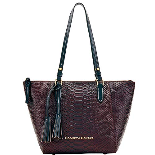 Dooney & Bourke Python Embossed Leather Maxine Tote Espresso