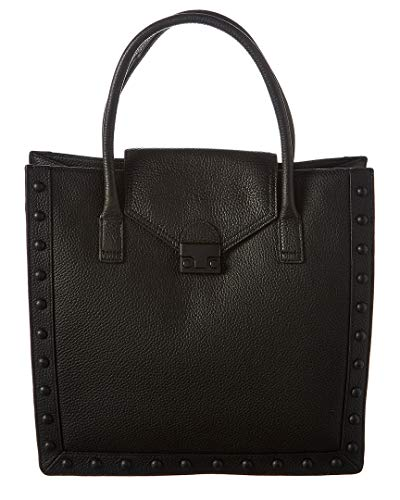 Loeffler Randall Work Leather Tote, Black