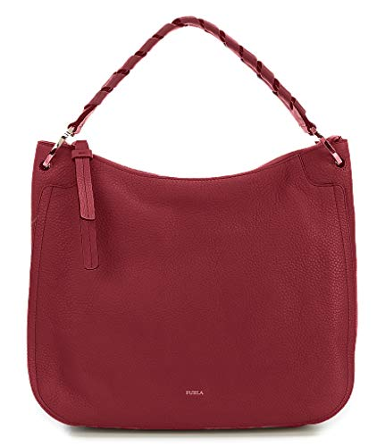 Furla Women's Rialto Hobo Handbag XL Ciliegia Leather