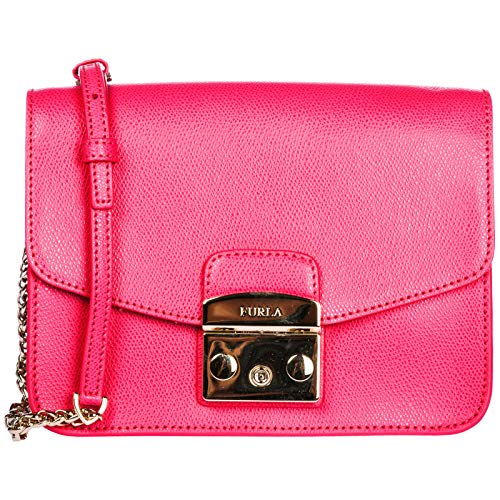 Furla women's leather cross-body messenger shoulder bag metropolis pink