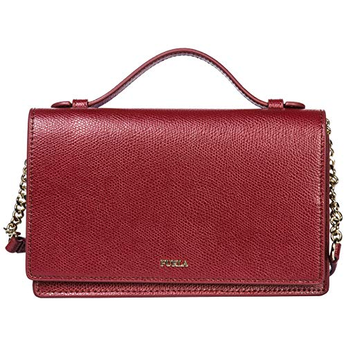 Furla women's leather cross-body messenger shoulder bag incanto bordeaux