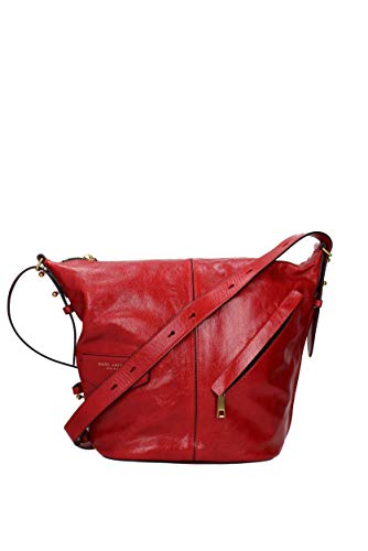 MARC JACOBS The Vintage Sling Leather Hobo – Red