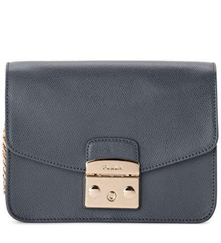 FURLA METROPOLIS BNF8 Dark Grey Crossbody Bag for Womens