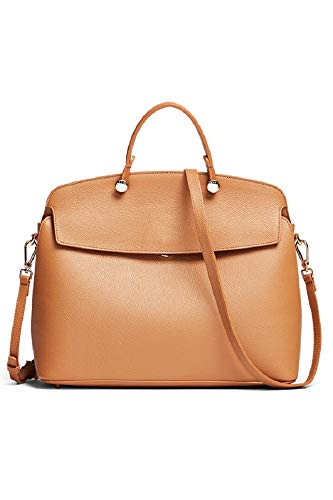 Furla Women's My Piper Tote Handbag Caramello Tan Leather