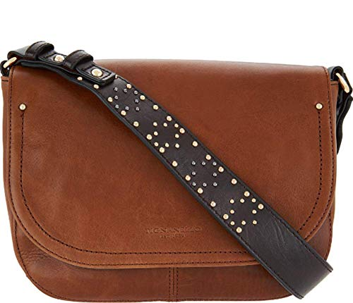 Tignanello Item Saddle Cross Body W/RFID Protection, Rust/Brown