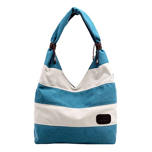 Ecokaki Women's Hobo Tote Bag Canvas Straped Bag Large Handbag Shopper Shoulder Bag