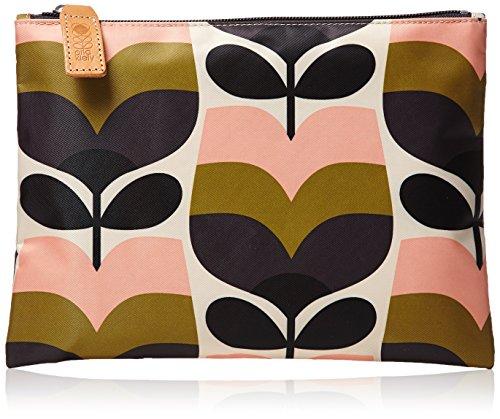 Orla Kiely Stripe Rosebud Print Large Zip Pouch bag Multi