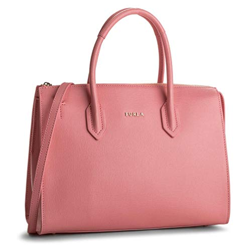 Furla Pin Medium top Zip Satchel, Rosa quarzo