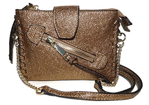BCBG BCBGENERATION Small Gold Aubry Crossbody Handbag