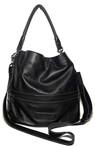 LIEBESKIND Fenja Zipped Deatil Washed Cow Black Crossbody Handbag