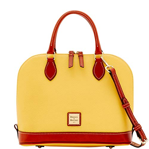 Dooney & Bourke Pebble Grain Zip Zip Satchel Lemon