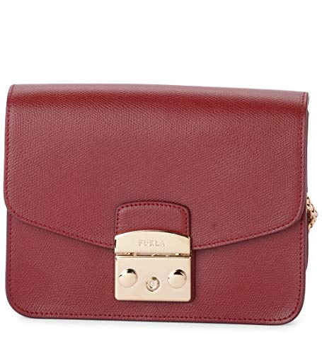 FURLA METROPOLIS BNF8 Maroon Crossbody Bag for Womens