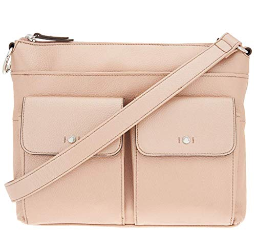 Tignanello Voyager Convertible Cross Body W/RFID Protection, Metallic Rose