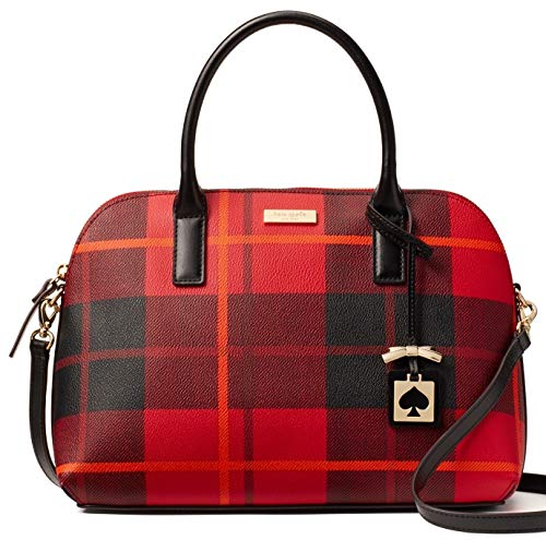 Kate Spade New York Brightwater Drive Woodland Plaid Small Rachelle Satchel – Red Carpet