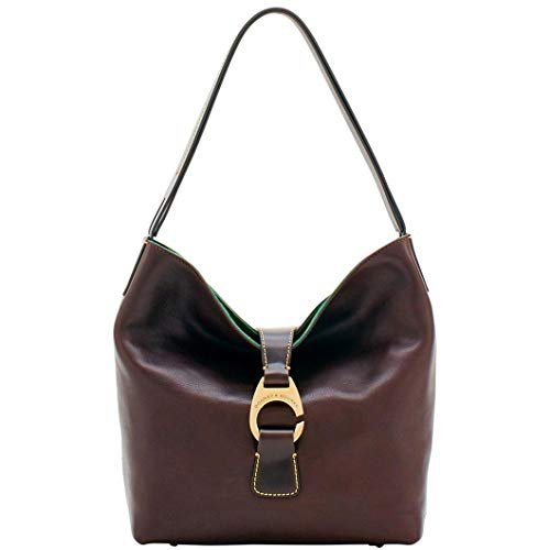Dooney & Bourke Derby Florentine Hobo Shoulder Bag Brown Tmoro