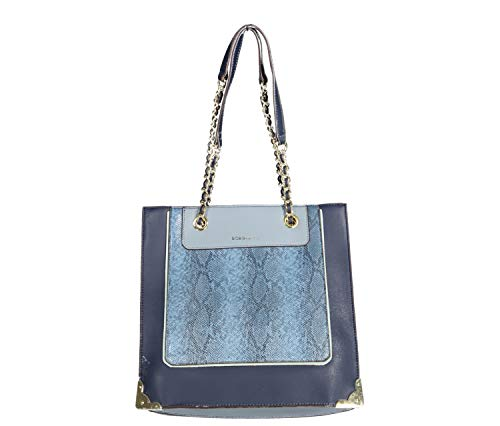 BCBGeneration Morgan Tote Shoulder Bag, Navy/Ash Blue
