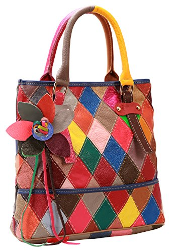 Heshe Women's Multi-color Shoulder Bag Hobo Tote Handbag Cross Body Purse (2B4009)