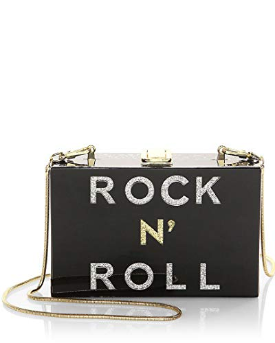Milly Rock N' Roll Smoky Box Clutch, Black