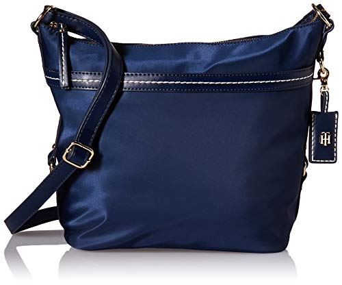 Tommy Hilfiger Hobo Bag for Women Work Nylon, Tommy Navy