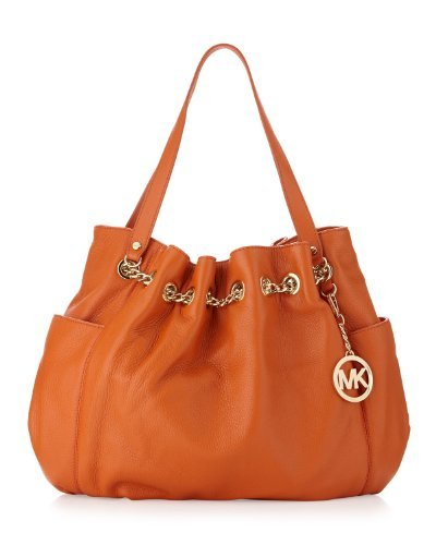 Michael Kors Jet Set Chain Ring Tote-tangerine