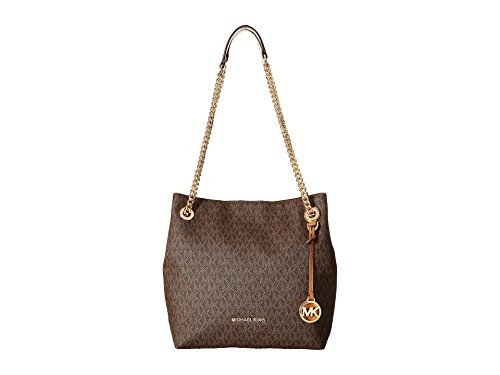 MICHAEL Michael Kors Jet Set Chain Medium Shoulder Tote (Brown)