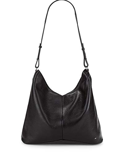 Halston Heritage Leather Hobo Bag, Black