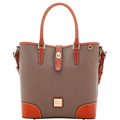 Dooney and Bourke Medium Cayden Pebble Leather Satchel Elephant