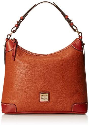 Dooney & Bourke Pebble Leather Hobo Caramel w/Tan Trim One Size