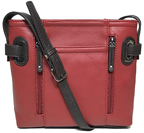 Tignanello Perfect Pockets Large Function Cross Body, Rouge/Brown