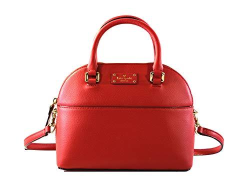 Kate Spade Mini Carli Grove Street Leather Women's Crossbody Bag Purse Handbag, Red Carpet