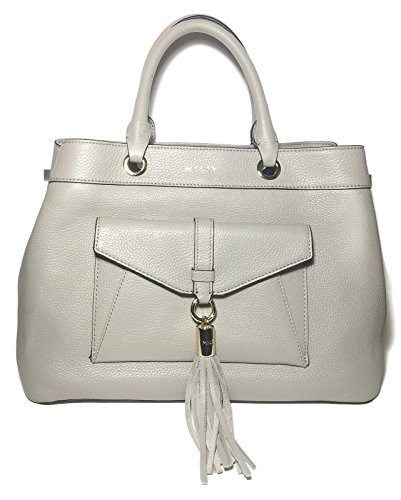 MILLY Taupe Stone Astor Large Handbag Satchel