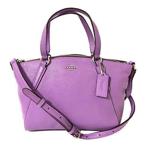 Coach Pebble Leather Mini Kelsey Satchel Crossbody Handbag (SV/Iris)