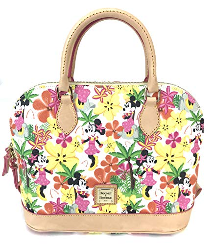 Disney Dooney & Bourke Aulani Floral Minnie In Paradise Satchel Purse