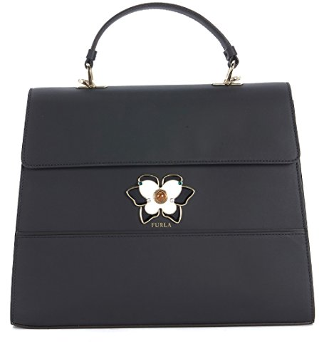 Furla Furla Mughetto Black And White Leather Handbag Black