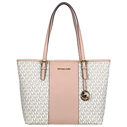 Michael Kors Jet Set Medium Carryall Tote Vanilla Ballet Pink