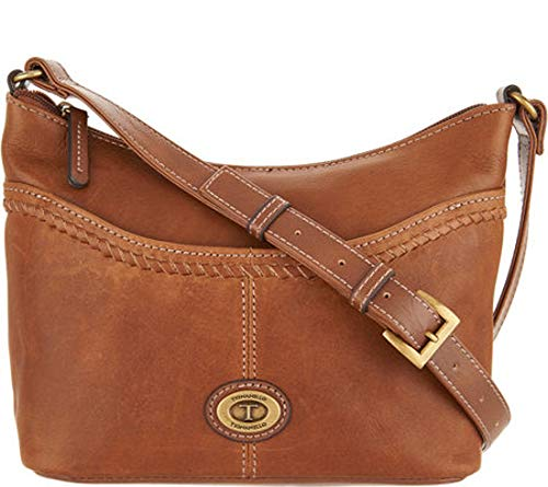 Tignanello Crosby Vintage Leather Convertible Cross Body, Walnut/Cognac