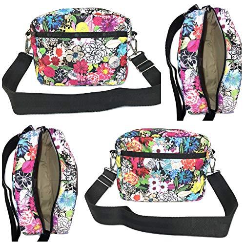 LeSportsac Sunlight Floral Austin Crossbody Handbag Detachable/Adjustable/Interchangeable Strap Metal Hardware, Style 2435/Color E141