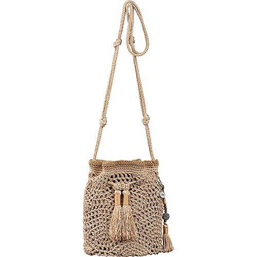 The Sak Sayulita Crochet Mini Drawstring (Bamboo)