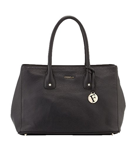 Furla Serena Leather Medium Tote Bag, Black