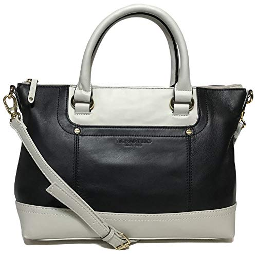 Tignanello Smooth Operator Conv. Satchel, Black/Eggshell