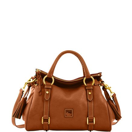 Dooney & Bourke Florentine Small Satchel, Chestnut/Self Trim
