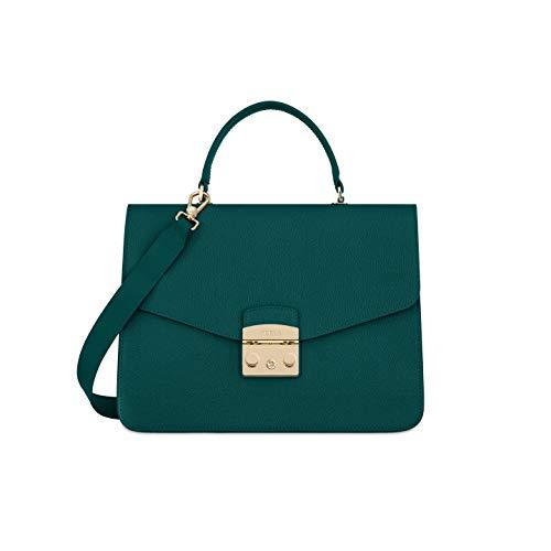 Furla Metropolis Ladies Medium Green Cipresso Leather Shoulder Bag 978674