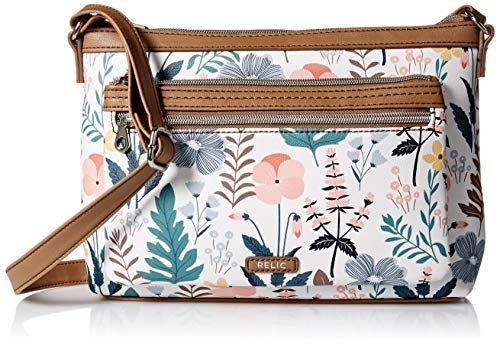 Relic by Fossil Evie Crossbody Handbag, White Floral