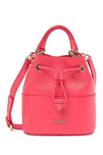 Furla Brooklyn Mini Leather Drawstring Bag – Rosa