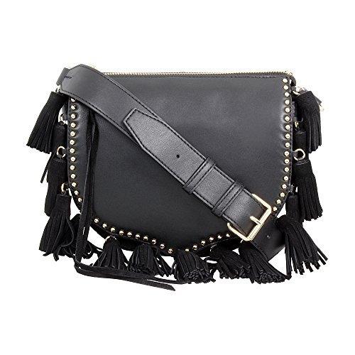 Rebecca Minkoff Ladies Black Small Multi-Tassel Saddle Bag HR26IMTL05