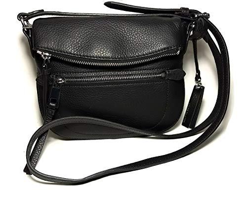 VINCE CAMUTO Black Nero Tala Small Leather Crossbody Handbag